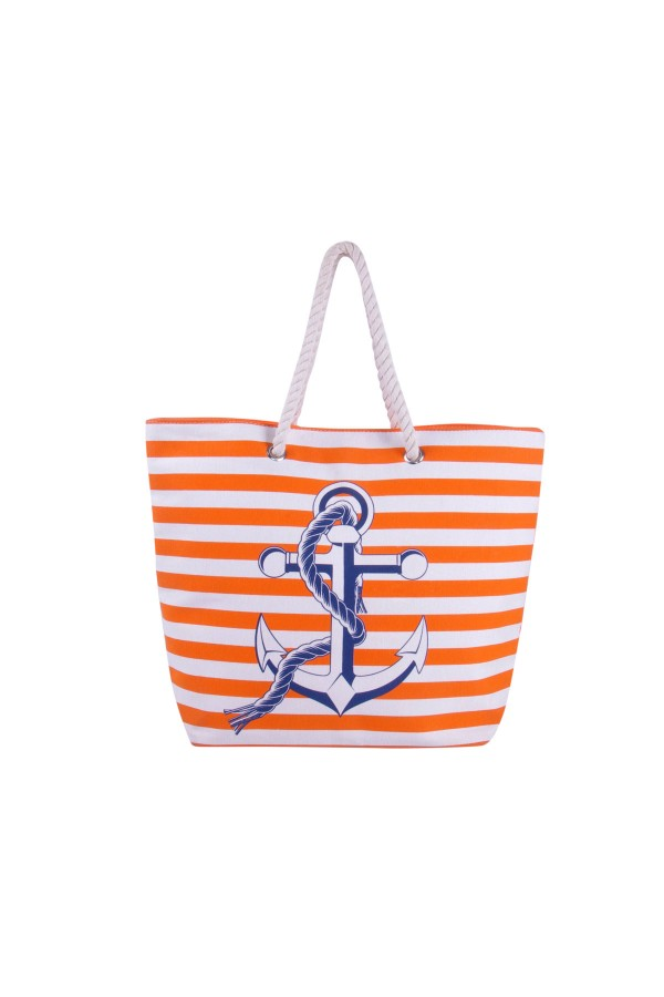 Anchor Canvas Tote Bag - Orange