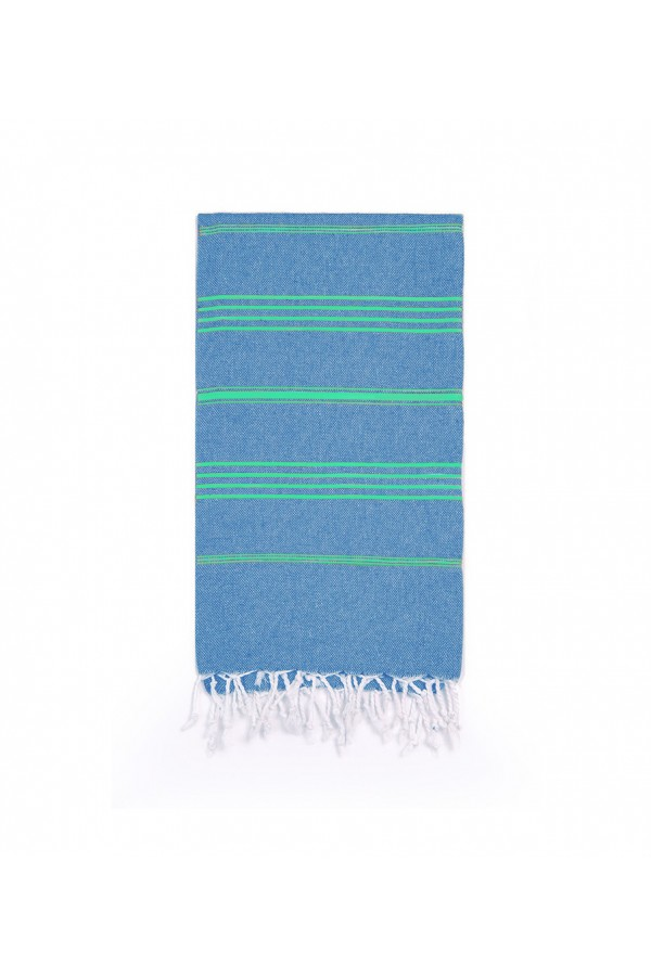 Peshtemal Turkish Towel Beach Cover-Up - Jean Blue - Green