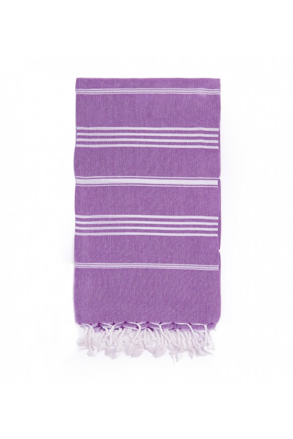 Peshtemal Turkish Towel Beach Cover-Up - Purple
