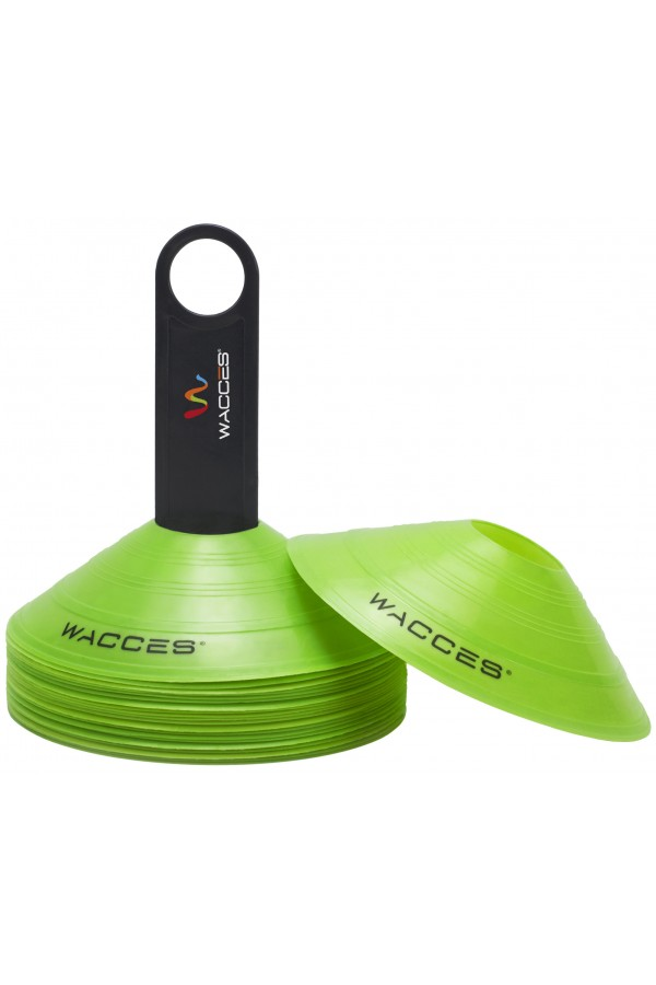 Agility Disc Cones with Transportaion Caddy - Green