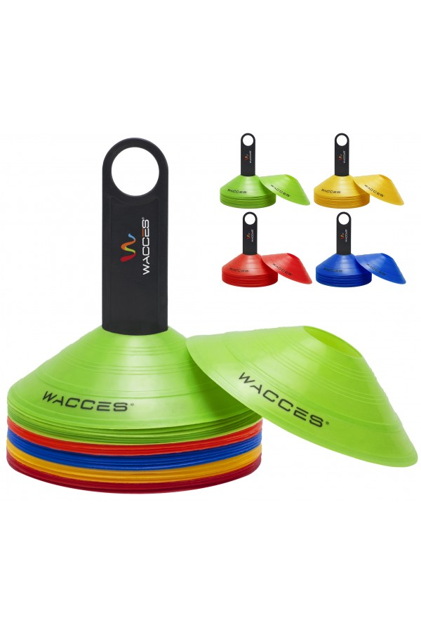 Agility Disc Cones With Transportaion Caddy