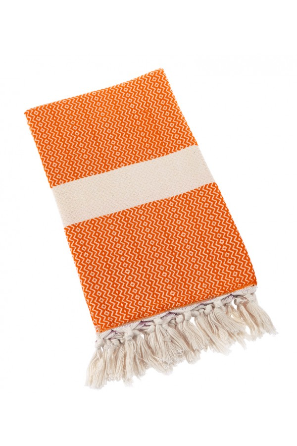 Eshma Mardini Turkish Towel Peshtemal for Beach Spa Bath Pool Sauna Yoga Pilates Fitness - Orange