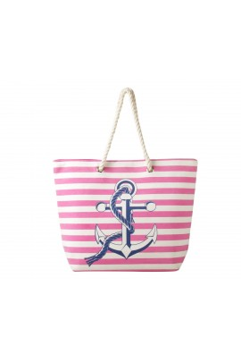 Anchor Canvas Tote Bag - Pink