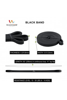 Body Building Resistance Band - Black 1 1/2""