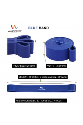 Body Building Resistance Band for - Blue 1 3/4""