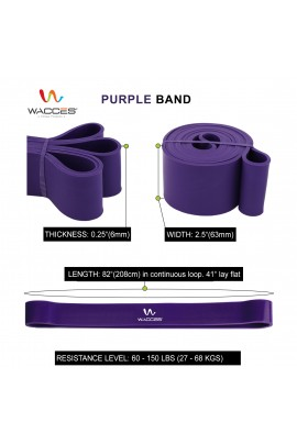 Body Building Resistance Band - Purple 2 1/2""
