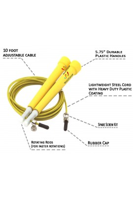 Pro Cable Jump Rope - Yellow