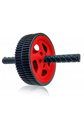 Dual Wheel Abdominal Roller - Red