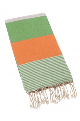 Peshtemal Turkish Towel Beach Cover Up - Lime-Orange
