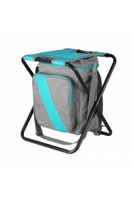 Stool with Cooler Bag - Blue