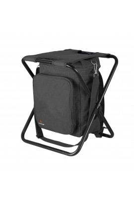 Stool with Cooler Bag - Black