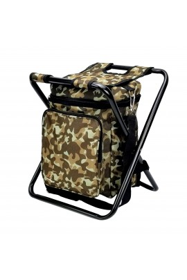 Stool with Cooler Bag - Military