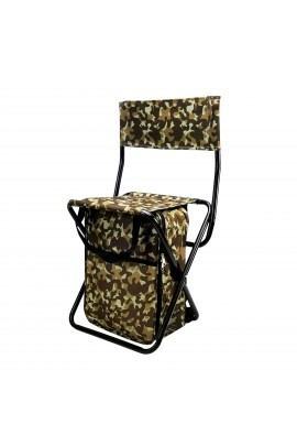 Backrest Stool with Cooler Bag - Military