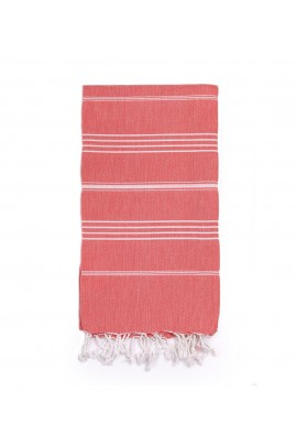 Peshtemal Turkish Towel Beach Cover-Up - Coral Red
