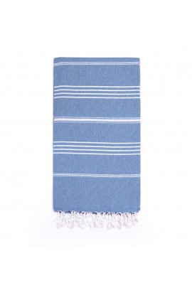 Peshtemal Turkish Towel Beach Cover-Up - Jean Blue