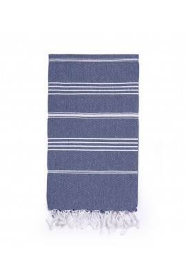 Peshtemal Turkish Towel Beach Cover-Up - Navy Blue