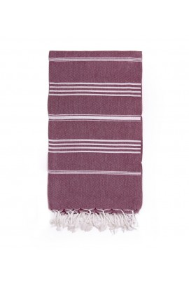 Peshtemal Turkish Towel Beach Cover-Up - Burgundy