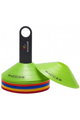 Agility Disc Cones with Transportaion Caddy - Rainbow