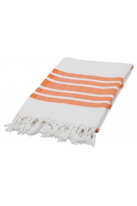 Eshma Mardini Luxury Turkish Cotton Peshtemal for Beach, Bath, Pool...etc. - Orange