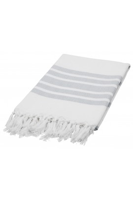 Eshma Mardini Luxury Turkish Cotton Peshtemal for Beach, Bath, Pool...etc. - Gray