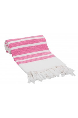 Eshma Mardini Luxury Turkish Cotton Peshtemal for Beach, Bath, Pool...etc. - Pink