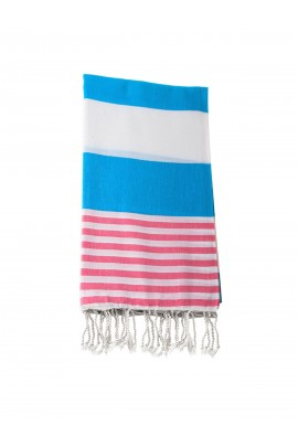 Peshtemal towel cover-up,  - Blue - Pink