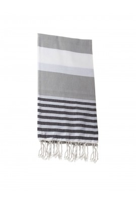Peshtemal towel cover-up,  - Gray - Black