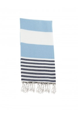 Peshtemal towel cover-up,  - Blue - Navy Blue