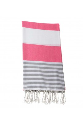 Peshtemal towel cover-up,  - Pink - Gray