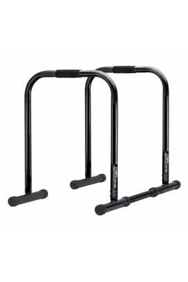 Functional Fitness Station Stabilizer Dip Bar - Black