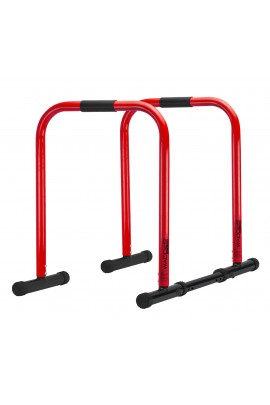 Functional Fitness Station Stabilizer Dip Bar - Red