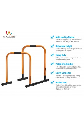 Functional Fitness Station Stabilizer Dip Bar - Orange