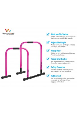 Functional Fitness Station Stabilizer Dip Bar - Pink