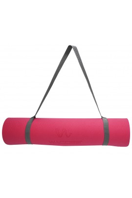 Fitness Yoga Mat - Coral Red/Gray