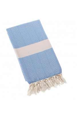 Eshma Mardini Turkish Towel Peshtemal for Beach Spa Bath Pool Sauna Yoga Pilates Fitness-Light Blue