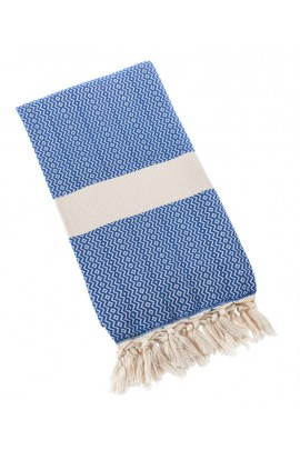 Eshma Mardini Turkish Towel Peshtemal for Beach Spa Bath Pool Sauna Yoga Pilates Fitness - Blue