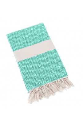 Eshma Mardini Turkish Towel Peshtemal for Beach Spa Bath Pool Sauna Yoga Pilates Fitness -Turquoise