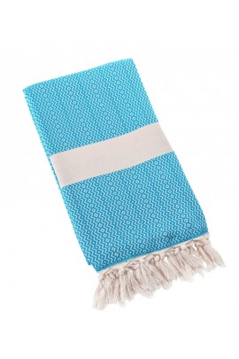 Eshma Mardini Turkish Towel Peshtemal for Beach Spa Bath Pool Sauna Yoga Pilates Fitness - Sky Blue