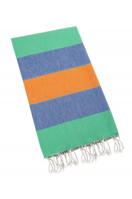 Eshma Mardini Turkish Cotton Peshtemal for Beach Shower Bath - Orange - Green - Blue