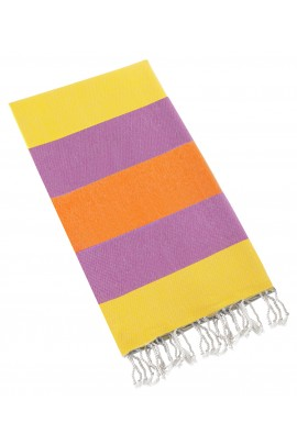 Eshma Mardini Turkish Cotton Peshtemal for Beach Shower Bath - Orange - Yellow - Purple