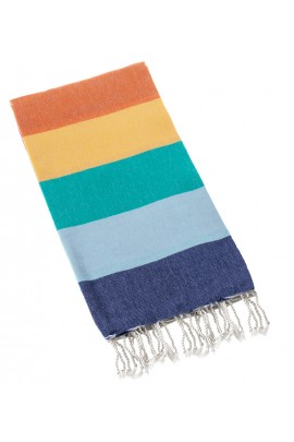 Eshma Mardini Turkish Cotton Peshtemal for Beach Shower Bath-Orange-Yellow-Green-Ice Blue-Navy Blue