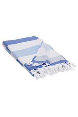 Peshtemal Turkish Towel Beach Cover-Up - Blue