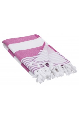 Peshtemal Turkish Towel Beach Cover-Up - Pink - Purple