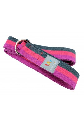 Yoga Strap - Purple, Red, Black