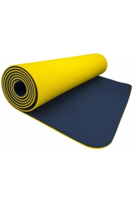 Fitness Yoga Mat - Yellow/Navy Blue