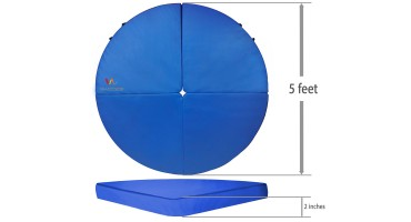 Wacces Folding Mat Dance Pole Exercise Crash Mat - Blue