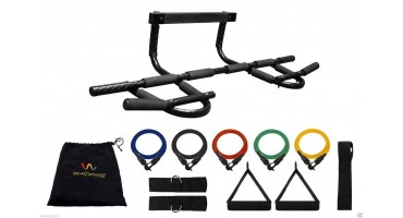 Chin-Up & Pull-Up Bar: Including Five (5) Resistance Bands
