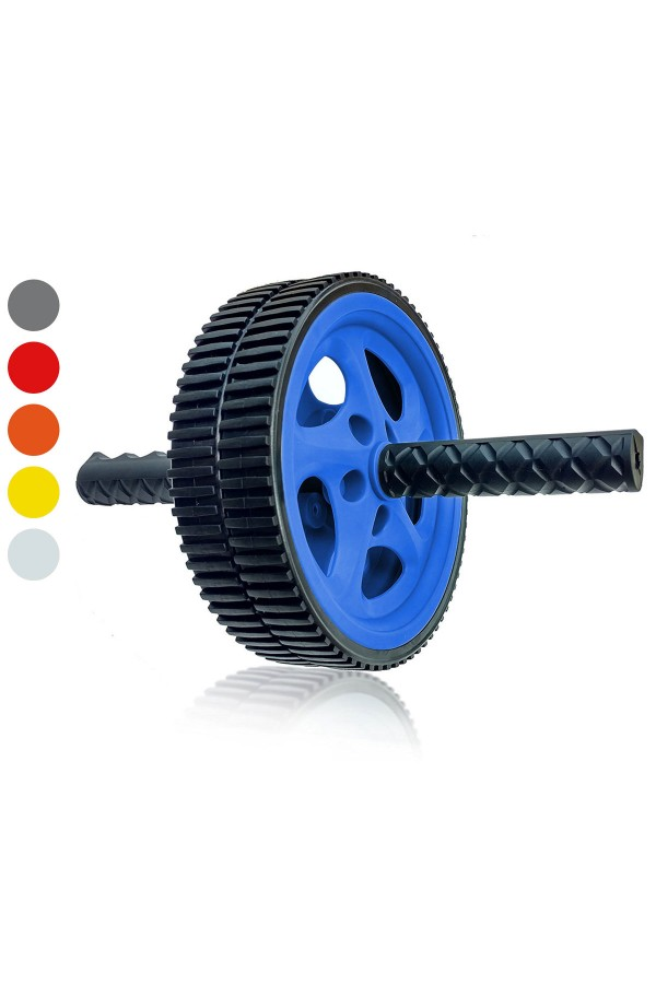 Wacces AB Roller Power Wheel - Exercise & Fitness Wheel With Easy Grip Handles - Core Training, Abdominal and Workout Equipment  at Home or Gym