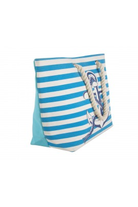 Anchor Canvas Tote Bag - Blue