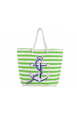Anchor Canvas Tote Bag - Green